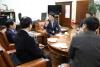 류수노 한국방송통신대학교 총장 일행 허용범 국회도서관장 예방