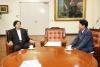 신기남 도서관정보정책위원장 허용범 국회도서관장 면담